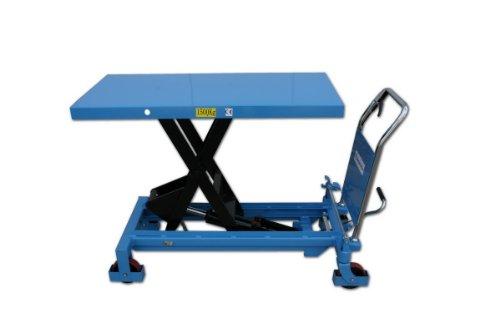 HanseLifter SPA1500 mobiler Hubtisch mit 1500kg Tragfähigkeit und 1000mm Hubhöhe, Lichtblau