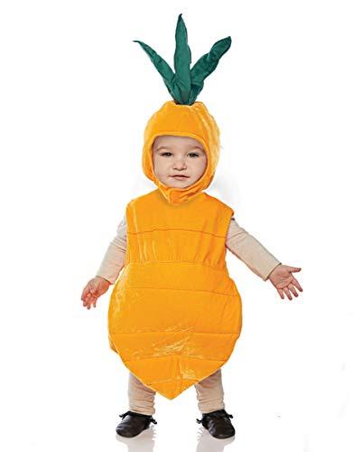 Horror-Shop Karotte Baby- & Kleinkinderkostüm für Fasching ()