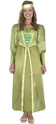 Fancy Me mädchen-grün lang voll Länge mittelalterlich Maid Marion Kostüm Kleid Outfit - Grün, 4-6 - Maid Marion Kostüm Kinder