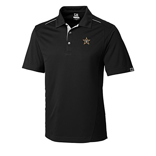 Cutter & Buck NCAA Men's CB Dry Tec Foss Hybrid Polo,Vanderbilt Commodores,X-Large,Black