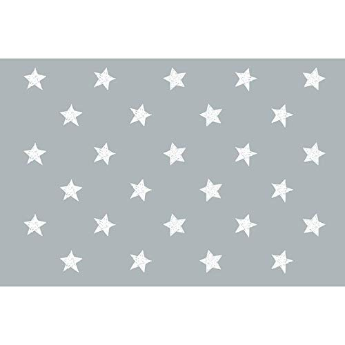 Flooralia - Alfombra Vinilica Infantil, 170X120cm, Blanco-Gris