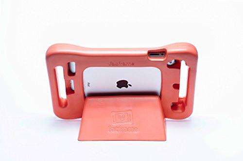 fatframe iPad Ständer in Koralle: Bouncy, leicht, abwischbar, einfache Handhabung, robust, stapelbar Ständer für fatframe iPad der Tasche ist EIN Stürzen Kids Tablet Cover Griffe für Kinder zu halten -