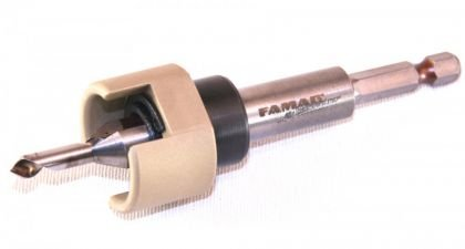 Famag 3577504 - Kit di 4 svasatori, diametro 4, 5, 6 mm e arresto di profondità, in cofanetto di