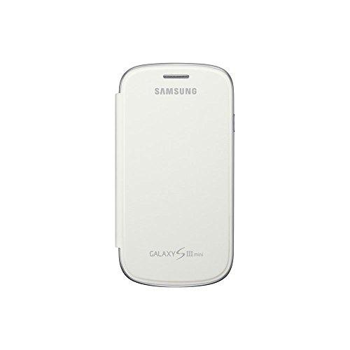 Samsung Original schützende Display-Klappe / Flip-Cover EFC-1M7FWEGSTD (kompatibel mit Galaxy S3 mini) in white Mini-flip-cover