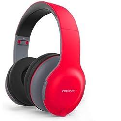 Écouteurs de Bandeau Bluetooth sans Fil PRIXTON ab202 Rouge