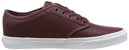 Vans MN Atwood, Sneakers Basses Homme Rouge (Leather)