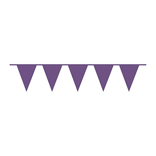 Amscan International 9903790 Banner, 10m Plastic Pennant New Purple (Banner Purple Pennant)