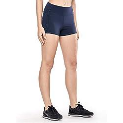 CRZ YOGA Pantalones Deportivos De Cintura Alta para Mujer-6cm Verde Oscuro XXS(34)