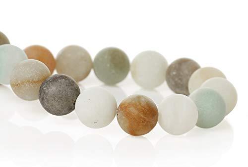 Sadingo perle naturali amazzonite matt multicolore, diy gioielli fai da te braccialetto, collana, orecchini, 6 o 8 mm, 1 filo, 8mm 40 stück