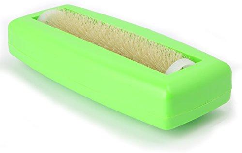 Krümelbürste Crumpy, Krümelroller Tischroller Tischbesen Teppichbürste Tischkehrer Handstaubsauger Tischdecken Bürste Auto Caravan staubsauger Rapido Grün