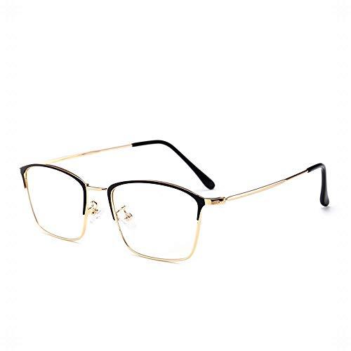 WULE-RYP Polarisierte Sonnenbrille mit UV-Schutz Vintage Square Brillengestell Brillen ohne Brille Brillen klare Brillen. Superleichtes Rahmen-Fischen, das Golf fährt (Farbe : Coffee/Gold Frame)