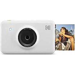 Kodak Mini Shot - Appareil Photo Numérique et Imprimante sans Fil, 5 x 7,6 cm, Technologie d'Impression Brevetée 4Pass, Blanc