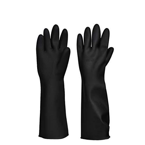 LWBUKK Chemische Anti-Korrosions-Säure und alkalibeständige Handschuhe Fabrik Schutzhandschuhe Industriechemikalien Lange Schwarze Handschuhe Handschuhe - Betrieb Chemische Fabrik