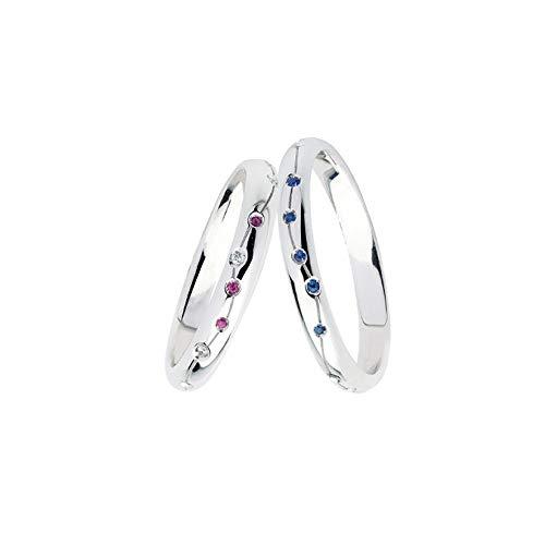 Fedi Polello In Oro Bianco 18 Kt Con Diamanti, Rubini E Zaffiri 2986dbbr-ubz, 20