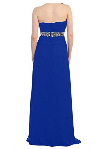 Toscana sposa general-case Chiffon di cristallo a forma di cuore lunghezza abiti da sposa giovane lontano dalla serata Party Ball Bete vestimento Blu Royal