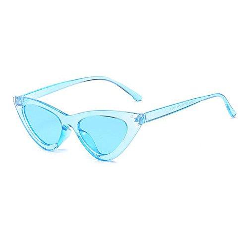 Inlefen Katzenaugen-Sonnenbrille Weinlese-Mod-Art-Schutzbrillen-Dreieckrahmenentwurfs-Brillen UV400