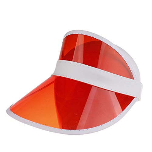 EUCoo Hut Freienreiten Der Modekappe TräGt Golf Hellen Augenschutzhut Sonnenhut Zur Schau(rot)
