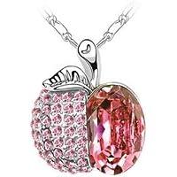 SCORPIUS GIFTS gioiello di cristallo strass collana ' Mela ' In sacchetto regalo in Organza (Madri Cuore Collana)