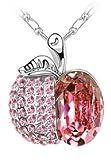 SCORPIUS GIFTS gioiello di cristallo strass collana ' Mela ' In sacchetto regalo in Organza gratis! -(ROSA)