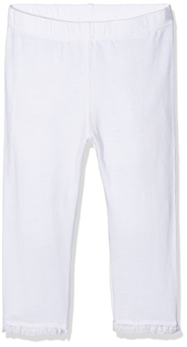NAME IT Mädchen Nitgrete Capri Legging MZ Weiß (Bright White Bright White), 92 (Leggings Capri Print)