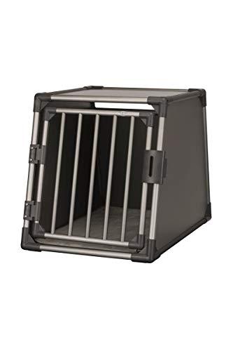Trixie 39337 Transportbox, Aluminium, M-L: 61 × 65 × 86 cm, graphit