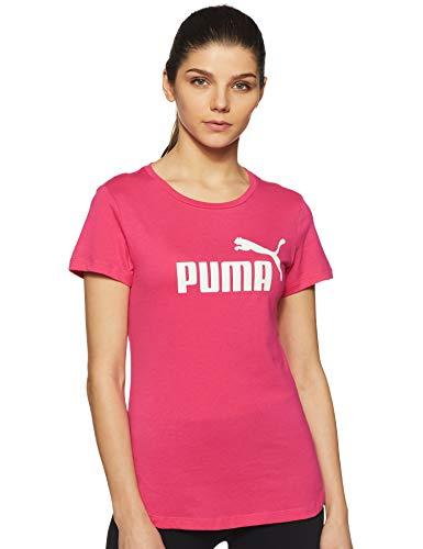 Puma Damen ESS Logo Tee T-Shirt, Beetroot Purple, XS -