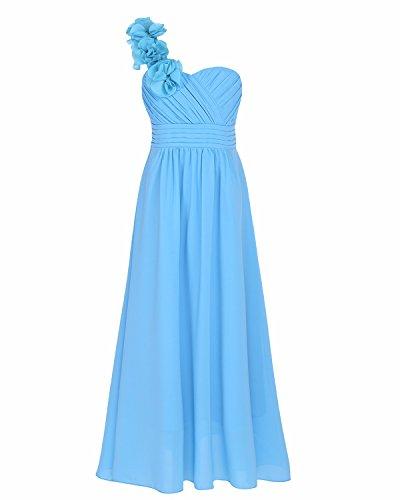 60% barato gran venta envío directo YiZYiF Vestidos Largos con Flores Elegante Vestido De Boda para Niñas  Trajes de Comunion Noche Fiesta 4-14 Años