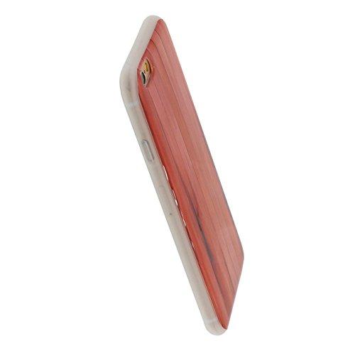 iPhone 6S Plus Coque Mince Style, Bambu Bois Conception Flexible Tpu Gel Transparent Housse de Protection Case Pour Apple iPhone 6 Plus / 6S Plus 5.5 inch color-c