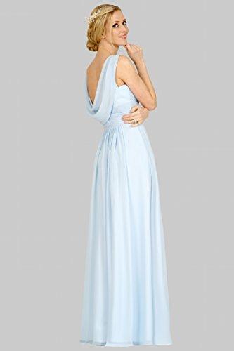 SEXYHER Regul?re Tr?ger Cowl Ausschnitt Backless Bridesmaids Formal bodenlangen Abendkleid -EDJ1755 CloudyBlue-77C