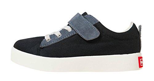 Little Blue Lamb Schuhe Halbschuhe Sneaker 7120 Canvas & Leder schwarz Schwarz