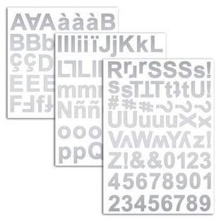 Unbekannt D.I.Y with Toga Alphabet Chipboards selbstklebend, Karton, Silber, 15x 25x 0,5cm -