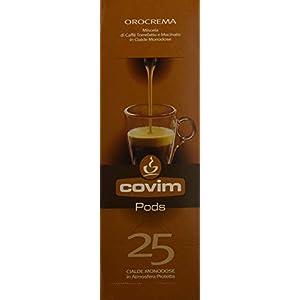 Covim Caffè Cialde Pods Orocrema, Compostabili Ese 44mm, 8 Astucci da 25 - Totale 200 Cialde