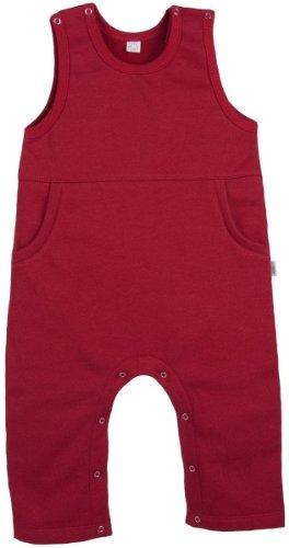 Baby Latzhose Sweat bordeaux Bio Baumwolle Gr.74/80