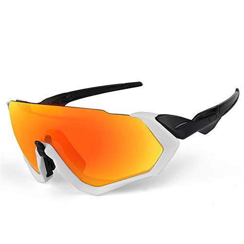 erhuo Fahrrad-Reitbrille mit polarisiertem Licht, weiß B