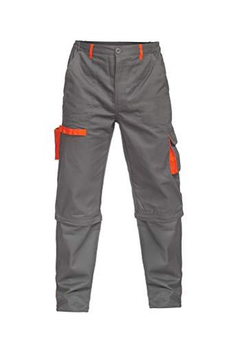 DINOZAVR Sigma Herren Bundhose/Cargohose & Shorts/kurzen Arbeitshosen 2 in 1 Grau XL Kurzer Zip-jacke