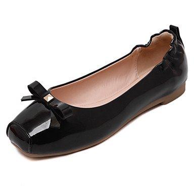 Confortevole ed elegante piatto scarpe donna Appartamenti Primavera Estate Autunno Comfort PU Casual tacco piatto Bowknot Nero Rosso mandorla altri Black