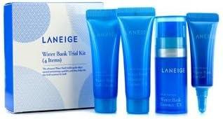 Laneige Water Bank Trial Kit: Essence 10ml + Moisture Cream 10ml + Gel Cream 10ml + Eye Gel 3ml 4pcs
