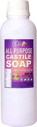 CERO Unscented All Purpose Pure Castile Soap, 200ml (ALLSOAP)