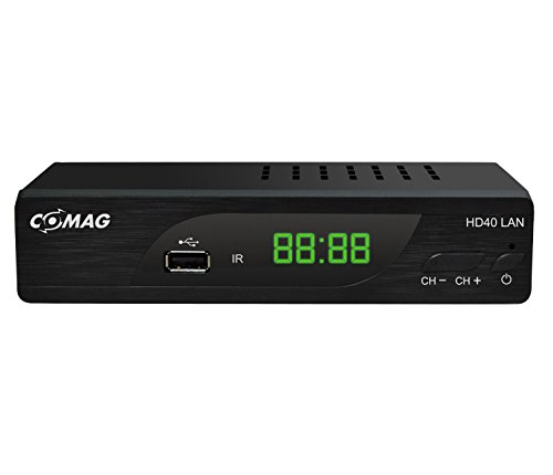 COMAG HD40 LAN Digitaler HD Sat Receiver (HDTV, DVB-S2, HDMI, SCART, PVR-Ready, USB 2.0) schwarz