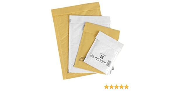 5.9 x 8.3 150mm x 210mm 10 Mail Lite White C//0 Padded Bubble Envelope Jiffy
