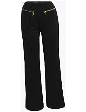SYGoodBUY Pantalones Anchos de la Caída de la Primavera del Verano de Las Mujeres Pantalones Anchos de la Pierna...
