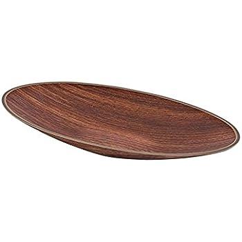 2 Stück runde TWINS Snackschale aus Kunststoff in Farbdesign Holz ...