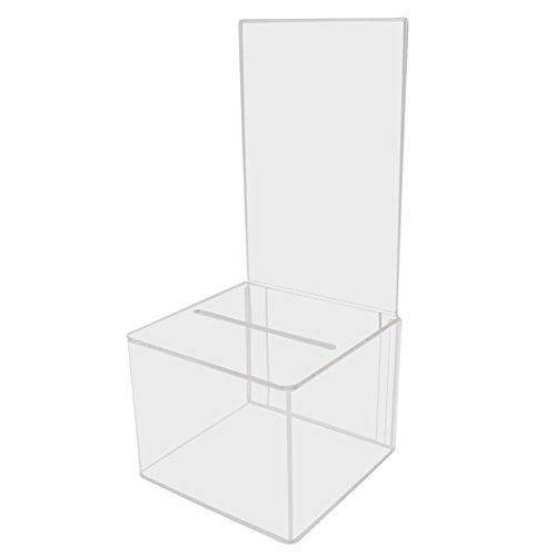 My Charity Boxes - Scatola per suggerimenti in acrilico, per raccolta donazioni- AC-18
