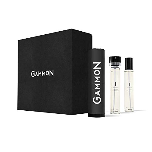 GAMMON 1 - THE BLACK TEE, Eau de Performance STARTER-SET, 2 x 20 ml Eau de Parfum für Herren/Männer