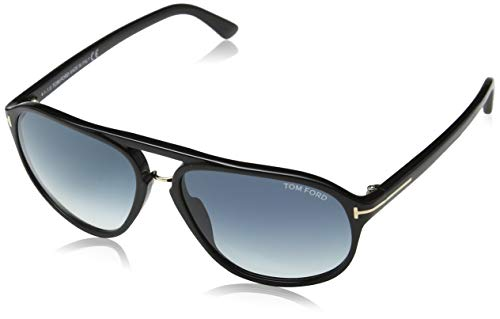 Tom Ford Herren FT0447 01P 60 Sonnenbrille, Schwarz (Nero Lucido/Verde Grad),