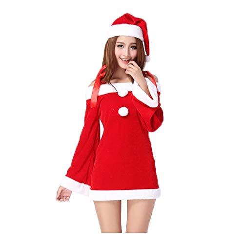 SDLRYF Weihnachtsmann Kostüm Heiligabend Weihnachten Kostüm Weihnachtsfeier Abendessen -