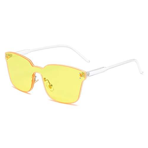 Hemio Sonnenbrille Herren Randlos Sonnenbrillen Polarisiert Fahren Sonnenbrille Platz Ideal Radbrille Farbfilm Outdoor-Brille Moda