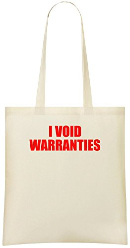 Ich annulliere Garantien - I Void Warranties Custom Printed Shopping Grocery Tote Bag 100{94c8198f4a82da2fcece5a53abb14819e9b6dc436e4878685b7603892f043d03} Soft Cotton Eco-Friendly & Stylish Handbag For Everyday Use Custom Shoulder Bags