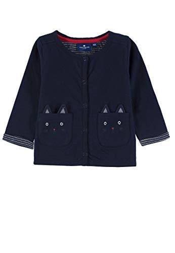 TOM TAILOR Kids Baby-Mädchen Sweatjacket solid Sweatjacke, Blau (Black Iris|Blue 3800), (Herstellergröße: 68)