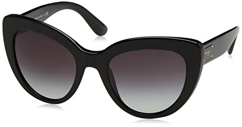 Dolce & gabbana 0dg4287 501/8g 53 occhiali da sole, nero (black/gradient), donna